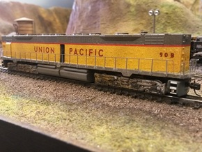 EMD DD35 N Scale 1:160 in Smooth Fine Detail Plastic