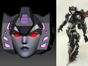 Slipstream homage Raven Head For TF PRID RC R in Smooth Fine Detail Plastic
