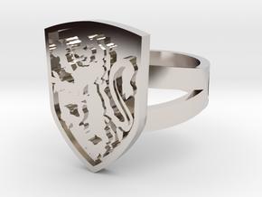 Gryffindor Ring Size 7 in Platinum