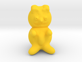 Teddy bear in Yellow Processed Versatile Plastic