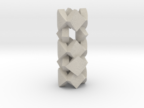 pendant twisted squares 2 in Natural Sandstone