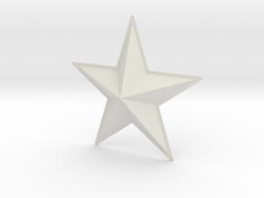 Captain America: TFA Chest Star in White Natural Versatile Plastic
