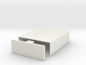 Arduino-Uno R3 sliding box in White Natural Versatile Plastic