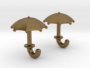 Umbrella Cufflinks in Natural Bronze