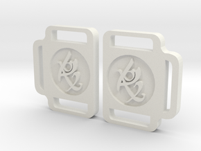 TMI Rune Side Buckles Set in White Strong & Flexible