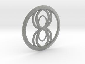 Infinity Spider Pendant in Metallic Plastic