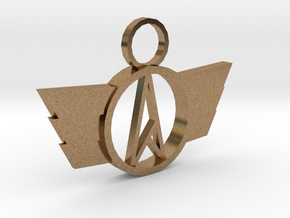 Neo-A Pendant in Natural Brass