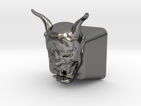 Cherry MX Hannya Keycap in Polished Nickel Steel