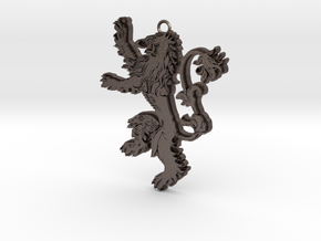 Lannister Pendant in Polished Bronzed Silver Steel