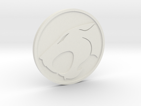 Thundercats Coin in White Natural Versatile Plastic