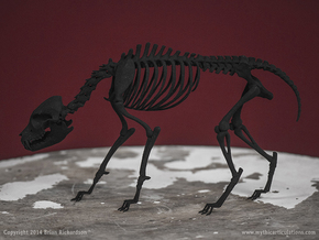 Black Shuck Skeleton in Black Natural Versatile Plastic