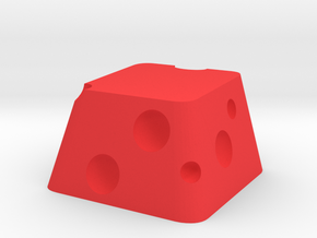 Cherry MX Cheese Keycap in Red Processed Versatile Plastic