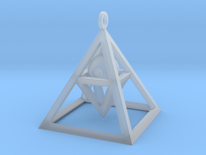 Sight of Pyramid Pendant in Smooth Fine Detail Plastic