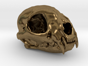 Cat skull - 45 mm in Natural Bronze