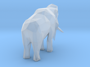 Low-poly Woolly Mammoth in Smooth Fine Detail Plastic