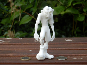 Zokka the Soccer Zombie in White Natural Versatile Plastic