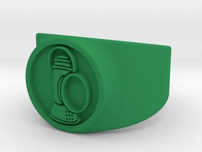 Alan Scott GL Ring Sz 11 in Green Strong & Flexible Polished