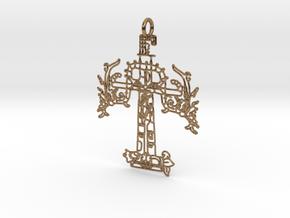 CRUZ PRINT.stl in Natural Brass