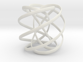 Spiral decoration in White Natural Versatile Plastic