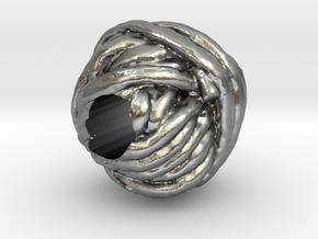 Yarn European Charm Bracelet Bead in Natural Silver