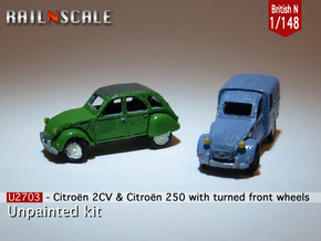 SET 2x Citroën 2CV - parked (British N 1:148) in Smooth Fine Detail Plastic
