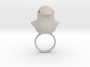 Ring Chicken Size US 7 (17.3 mm) in Natural Sandstone