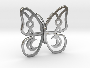 Butterfly  in Natural Silver
