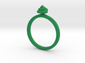 Ring Shit Size US 7 (17.3mm) in Green Processed Versatile Plastic