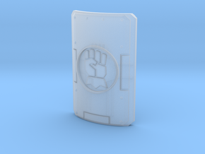1 shield with gauntlet motif in Smooth Fine Detail Plastic