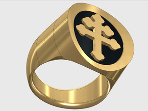 TEAM RING SIZE 12 1/2 in Polished Brass