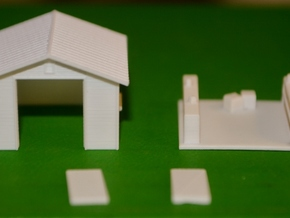 HO-Scale Backyard Shed (Revised) in Frosted Ultra Detail