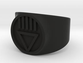 Black Death GL Ver 2 Ring Sz 8 in Black Natural Versatile Plastic