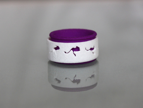Mouse Animated Ring Sz7- part 1 of 2 in White Processed Versatile Plastic