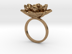 Rose Ring 17.3mm in Natural Brass: 5 / 49