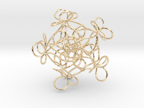Pentagonal Knot in 14K Gold