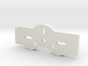 Budaschnozzle Mounting Plate For Quickfit X Car in White Natural Versatile Plastic