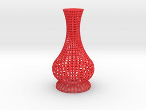 Candle Holder Square in Red Processed Versatile Plastic