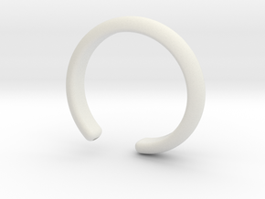 Bracelet (piece 4) in White Natural Versatile Plastic