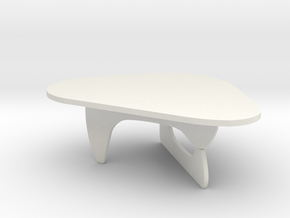 1:24 Noguchi Coffee Table in White Natural Versatile Plastic