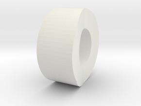 Carnifex Hand Cannon - Lower Barrel in White Natural Versatile Plastic