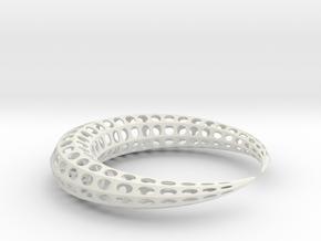 Earing (Cresent) in White Natural Versatile Plastic