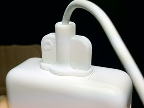 MagSavior™ - POW Clip (For 45W MagSafe 2 only)  in White Strong & Flexible