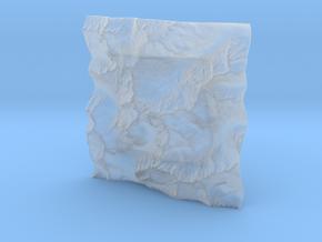 3'' Picket Range, Washington, USA in Smooth Fine Detail Plastic