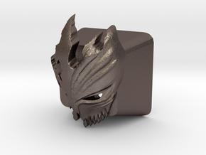 Cherry MX Kurosaki Mask Keycap in Polished Bronzed Silver Steel