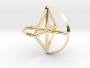 Wireframe Sphericon in 14K Yellow Gold