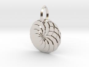 Sacred geometry Pendant  in Platinum