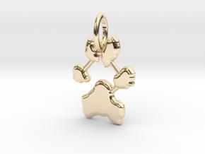 Custom Paw Print Pendants - Roxy's Paw Print in 14K Yellow Gold