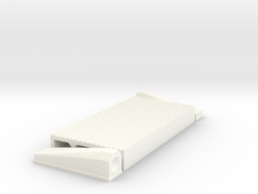 """1/8 Intercooler 24"""" Flow Length By 12"""" Wide in White Strong & Flexible Polished"""