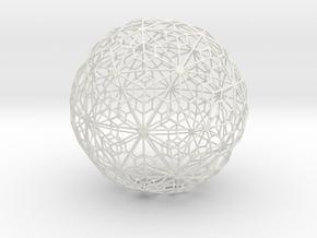 Sandstone Sphere_d2 in White Natural Versatile Plastic