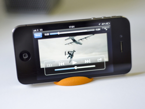 Curvestand for iPhone in Orange Strong & Flexible Polished